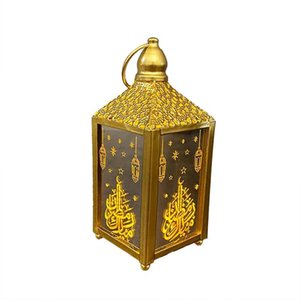 Top Selling Ramadan Lantern Led Hanging Lanterns Decoration Lights Holiday Lighting Wrought Iron Night Light Mats & Pads