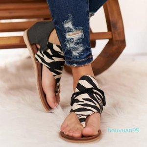 2021 Женщины Летние Сандалии Квартиры Обувь Женщина ПУ Кожа Zapatos de Mujer Повседневная Сандалия Сапато Феминино Зебра Леопарда Змея