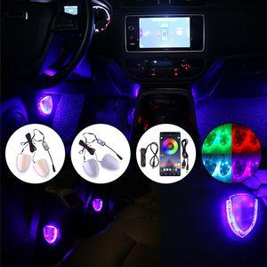 Car Ambient Atmosphere Light Foot Interior Decorative RGB LED USB APP Voice Rmote Control