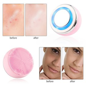 Face Deep Cleansing Cleaner EMS Facial Lifting Rejuvenation Beauty Machine Phototherapy Brighten Skin Nutrition Importing Device
