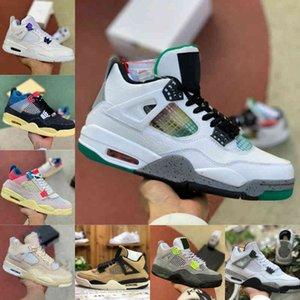 Air Jordan 4 retro jordans  Nike 2021 4 4 4 SCARPE DI PASSABALLA DONNA DONNA NUOVA CREMA DI CREMA AL NEON IL BIANCO CEMENTATORE BRED BRED CORT PURGANO UNION