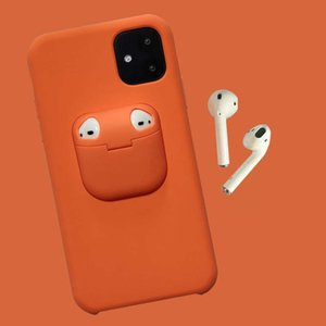 Suitable for 12 silicone mobile airpods Bluetooth headset case, 11 protective caseCell phone Accessories