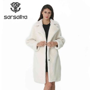 Winter Coat Women Fur Jacket Female Long Woolen Coats Ladies Warm Thick Autumn Overcoat Wool Blend Elegant Casual 201224