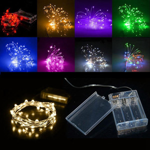 LEDs Battery Operated Copper Wire LED Strings Fairy Lighting for Christmas Party Wedding Decoration