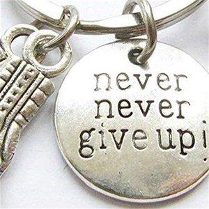 Nunca, nunca desista ! Luvas de boxe Inspirational Keychain Fitness Bodybuilding Keychain Criativo mochila Pingente 405 8OWRE 6SG10 803 R2