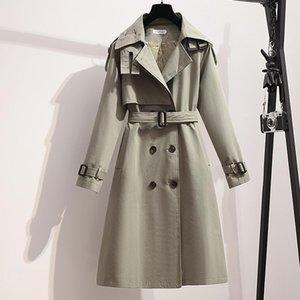 Women's Trench Coats Winter Long Coat Women Turn-down Collar Stylish Double Breasted Sashes Oversized Female Windbreaker ElegantAutumn