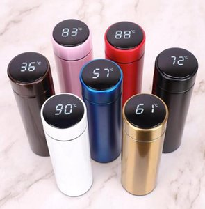 Intelligent Stainless Steel Thermos Bottle Cup Temperature Display Vacuum Flasks Travel Car Water Bottle With LCD Touch Screen DLH435