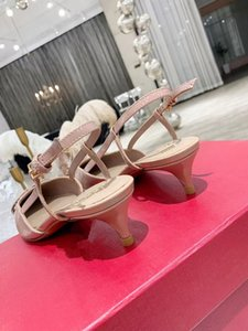 Summer women classic sandals designer womens slipper fashion pointed thin high heeled sandal 4 6 8cm cow leather size high-quality slippers