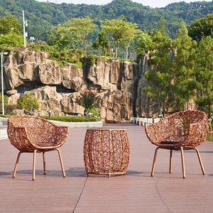 مجموعة أثاث الروطان في الهواء الطلق أثاث حديقة في ذا ساحة أريكة كرسي طاولة القهوة