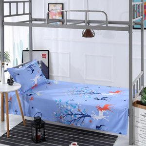 Single Bed Sheet Textile Bedding Bed Sheet Christmas Deer Brothers Sisters Bunk Beds Mattress Bedspread (With Pillowcase ) F0139 210420