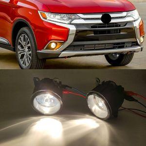 1Pair nevoeiro lâmpada de luz lâmpada tampa para mitsubishi outlander 2015 2015 2017 2018 2018 capa de foglamp capas de luz encaixotes caixa de quadro de caixa