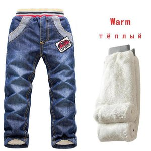Jeans Casual Denim Christmas Boys Trousers 2-7Yrs Winter Kids Thicken Add Wool Pant Brand Outerwear Warm