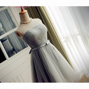 Real Sample pink gray tulle new Fashionable sexy short cocktail dresses customer made pleat prom dresses party dress