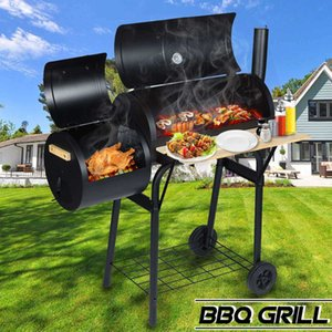 Outdoor Multi-function BBQ Villa Courtyard BBQ Charcoal Household Large American Braised BBQ Cooker 210724