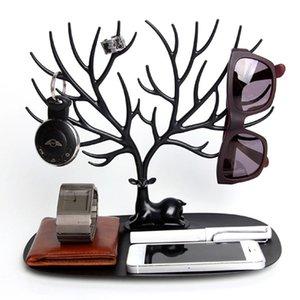 Creative Tree Forma Antler Jóias Cremalheira Deer King Brinco Titular Jóias De Armazenamento Rack Brincos Brincos Braceletes Exibir Stand 501 Q2