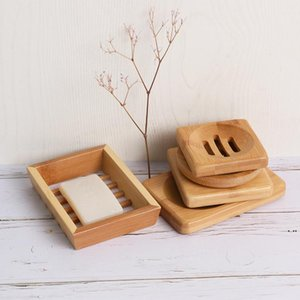 Natural Bamboo Soap Dishes Handmade Simple Bathroom Non Slip Tray Storage Box 4 Styles Of Household Goods HWE5886