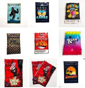 Silverback Mylar Shark Cakez ZMOOTHIE Black Zourz Runtz Zunzet 3.5 7g bag for Packaging flower Edibles