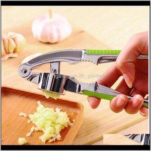 Fruit Vegetable Tools Kitchen, Dining Bar Home & Garden Drop Delivery 2021 Wholesales Garlic Press Hand Presser Crusher Ginger Squeezer Slice