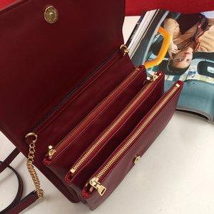 Подлинная кожаная кожаная ручная цепь сумки женщин роскоши модные дизайнеры женские сцепления классические высококачественные девочки плеча сумки 2021