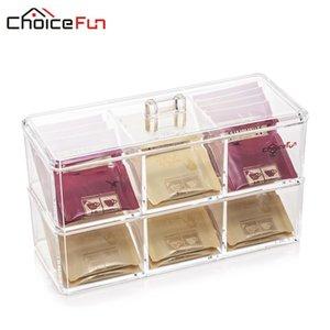 Bathroom Storage & Organization CHOICEFUN 2 Tiers Stackable Box Acrylic Make Up Organizer Desktop Plastic With Lid SF-1172