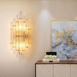 Wall Lamps Modern Led Crystal Bathroom Light Wandlamp Industrial Decor Cabecero De Cama Lustre Beside Lamp Dinging Room
