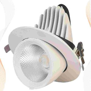 Spotlights Fashion LED 360 Degree Angle Ceiling Lamp Rotating For El Clothes Store (White Shell, White Light, 5W)