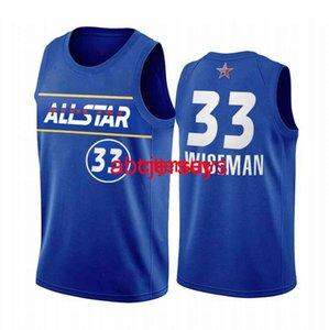 James Wiseman Team 2021 Rising Stars Jersey Blue All-Star مخصص أي اسم رقم الرجال النساء الشباب كرة السلة جيرسي XS-6XL