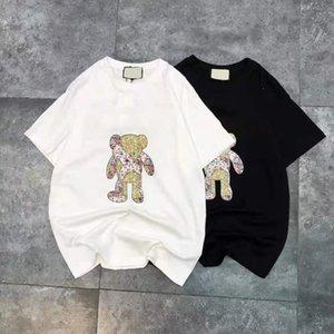 Nedensel Kadın T Shirt Bahar Yaz Vintage Tasarım Pamuk Siyah Beyaz Bayan T-Shirt Çiçek Baskı Kısa Kollu Tişörtleri Streetwear İyi Kalite JK121