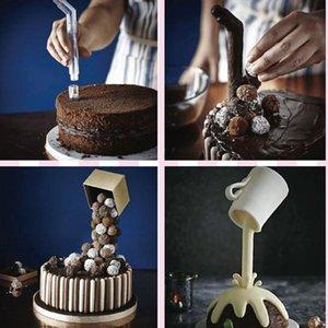 Structure de support de gâteau Protect Protect Gravity Verser Kit DIY Cuisson Outils suspendus pour la décoration de la maison Autre cuisson