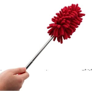 newLong-Reach Washable Dusting Brush Chenille Microfiber Hand Duster with Telescoping Pole for Cleaning Car Computer Household Cleaning EWA4