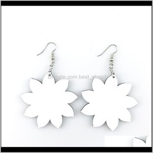 Favor Sublimation Blank Earrings Thermal Transfer Printing Star Heart Flower Leaf Shaped Diy Earring Gift Party Favors Zzc3584 Facit Ozbnk