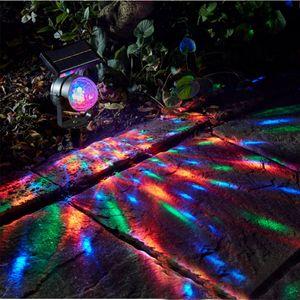 Lámparas solares giratorias LED LIGHT COLORIDO AHORRO DE ENERGÍA DE PROYECTO DE PROYECTO DE PROYECTO DE PROYECTURA DE PROYECCIÓN EUXIÓN 14500 Lámpara impermeable Jardín Herramienta al aire libre