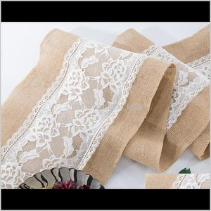Linen Vintage Burlap Lace Table Runner Natural Jute Country For Party Wedding Decoration Tp83Z Ybw6V