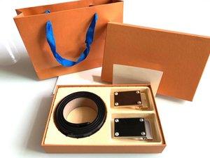 Men Belts Designer Belt Fashion Double buckles Senior Gift With box Men's Women Classic high quality Automatic Buckle
