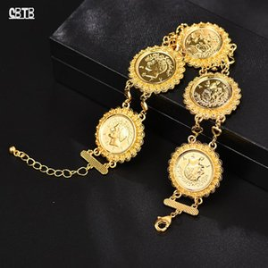 Golden Coin Bracelet Islamic Muslim Arab Fashion Charm Women Men Middle East Africa Luxury Jewelry Gift Wholesale Bracelets