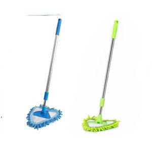 Portable Mop Triangle Floor Wipe Kitchen Scalable Mini Convenient Cleaning Tool Glass Woman Man Mops Supplies DWE9405
