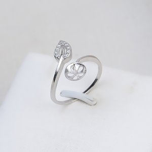 Leaf Ring Mounts 925 Sterling Silver Blanks Zircon Hollow Cut Leaf Design Pearl Settings 5 Pieces 1110 Q2