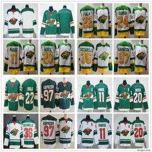 2020 2021 Nuevo retro retro Minnesota Salvaje salvaje Zach Parise Ryan Suter Mats Zuccarello Kevin Fiala Matt Dumba Kirill Kaprizov Ice Hockey Jerseys