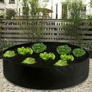 Raised Plant Bed Garden Flower Planter Elevated Vegetable Box Planting Grow Bag Round Pot for Plants Nursery