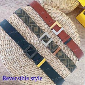 Reversible Belt For Women Fashion Men Designer Belts Big F Buckle Womens Luxury Waistband Cintura Ceintures Genuine Leather Belt 4.0mm
