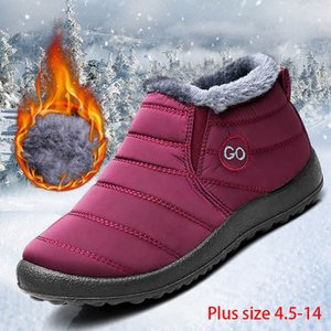 Women snow boots 2019 new waterproof winter boots women shoes solid casual shoes woman keep warm plush winter shoes women boots T200106
