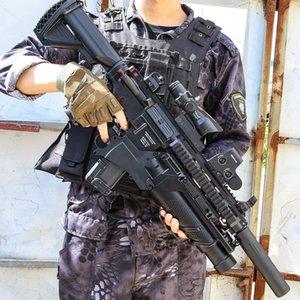 HK416 Asalto automático Rifle de asalto Pistola eléctrica Pistola Pistola Bola de agua Cristal bomba Bomb Bipaster Replica para adultos Niños CS Lucha