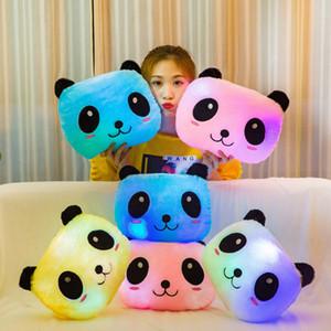 Colorful luminescence panda Plush Toys kids interesting Doll Luminous Pillow Toy Valentine's Day gift 13ak Q2