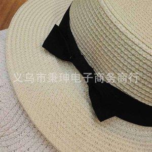 Tidal Seaside Outdoorsummer Diy Paper Book Flat Top White Point Lady Share Breim Beach Holiday Sun Hat