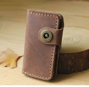 Key Holder Men Genuine Leather High Class Handmade Wallet Men Housekeeper Women Key Case Bag key organizer pouch