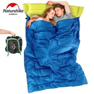 Naturehike كيس النوم مزدوج 3 موسم الكبار التخييم معدات السفر الوسائد ellalight الأزواج الأزواج