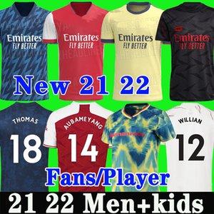 Tifosi Versione giocatore Maglia da calcio Arsenal 2021 2022 Gunners ODEGAARD PEPE SAKA THOMAS WILLIAN TIERNEY 20 21 22 maglie da calcio Uomo Bambini