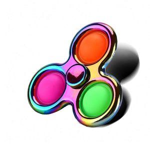 Einfache Dimple Fidget Spinner Spielzeug Sensorie Push Pop Blase Hand Spinners Finger Stress Relief Silikon Für Erwachsene Kinder 0546