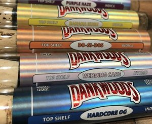 Preroll Packaging Stickers for Pre Rolls 18*116mm 18*120mm RreRoll Tubes labels dankwoods