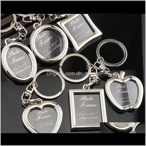 Keychains Accessories Drop Delivery 2021 6 Models Po Frame Keychain Alloy Locket Picture Chain Key Rings Heart Designs Bag Pendants Fashion J
